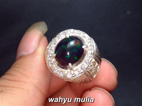 batu akik black opal kalimaya hitam asli kode 826 wahyu mulia