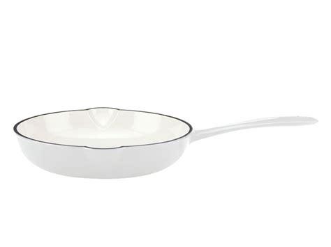 mario batali enameled cast iron skillet  white cutlery