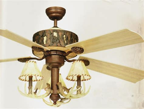 log cabin ceiling fan rustic lighting and fans