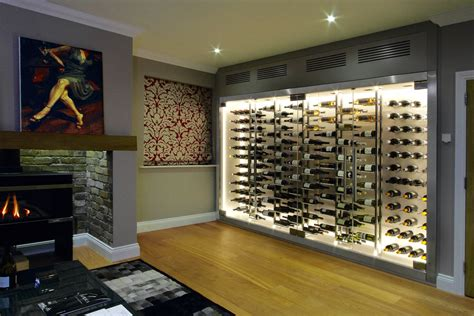 Cellar Showcase // Contemporary Wine Wall