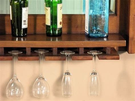 hand crafted solid mahogany wine bottle glass rack