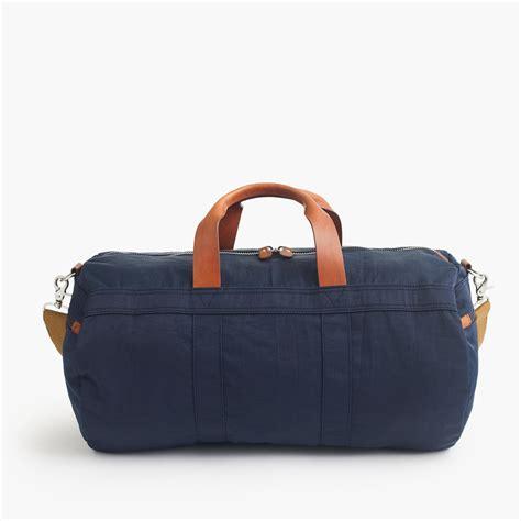 jcrew harwick duffel bag  blue  men dark navy lyst