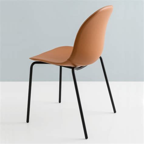 sedie in cuoio calligaris sedia living connubia by calligaris academy in cuoio made