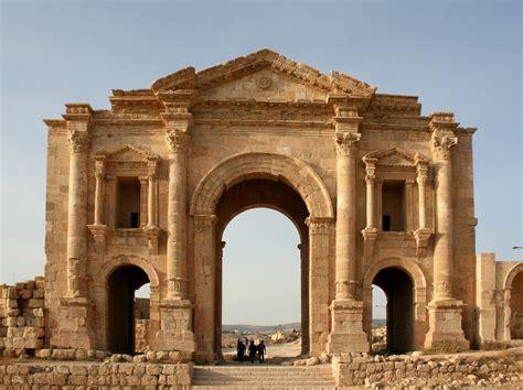 Ancient Art — The Ancient Roman Arch Of Hadrian, Jerash