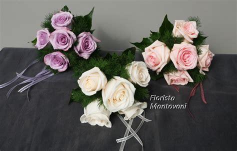 Bouquet Damigella Bianco, Rosa e Lilla   Fiorista Mantovani