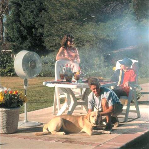 windchaser windchill cool mist outdoor fan  green head
