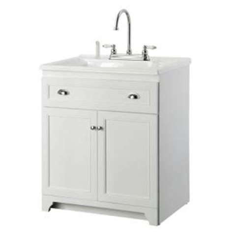 home depot utility sink kit foremost keats 30 in laundry vanity in white and premium
