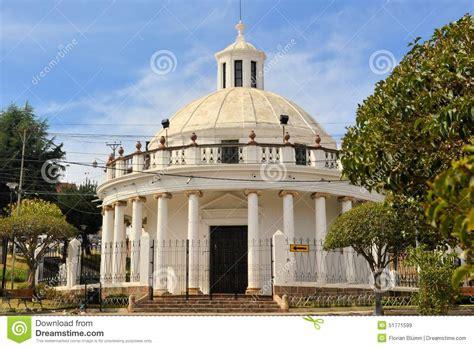 ccolonial building la rotonda  sucre bolivia stock