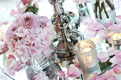 hochzeit blumen tischdeko tischdeko mit hortensien zur hochzeit