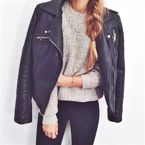 Black Leather Jacket Outfit Tumblr   www.pixshark.com - Images Galleries With A Bite!