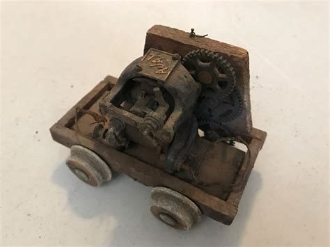 antique early  electric toy train car engine ajax