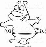 Hula Hoop Coloring Cartoon Drawing Vector Hooping Getdrawings Getcolorings Printable sketch template