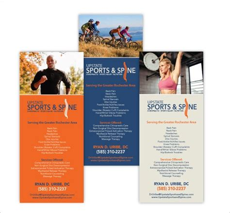 chiropractic brochure templates psd designs