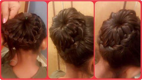 Lace Braid Bun Hairstyle