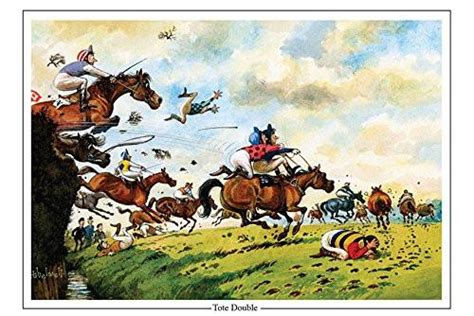 horse racing greeting card tote double  norman