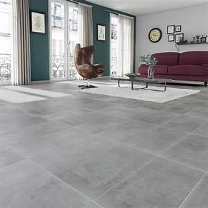 Prix Pose Carrelage Sol : carrelage sol et mur gris effet b ton new cottage x l ~ Dailycaller-alerts.com Idées de Décoration
