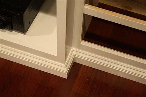 cabinet base trim build your own custom built in entertainment center