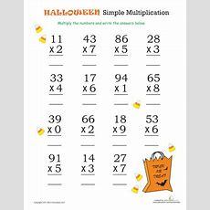 Halloween Math Simple Multiplication 2  Fallhalloweenturkey Day  Halloween Math, Halloween