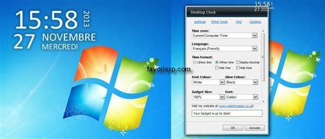 gadgets de bureau windows 7 gratuit horloge et calendrier pour ordinateur gratuit