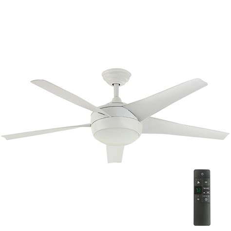 home depot white ceiling fan with remote home decorators collection windward iv 52 in indoor matte