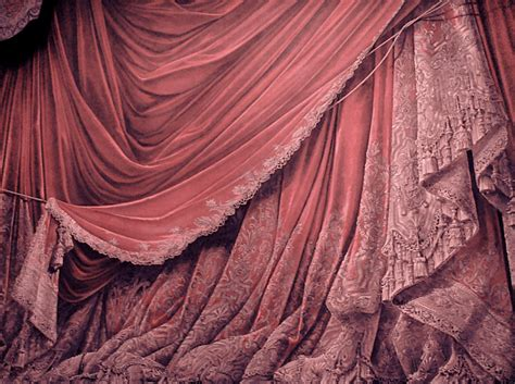 backdrop vintage theater stage curtain pink by eveyd on