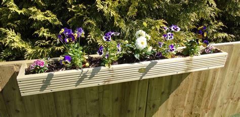 fence panel hanging balcony decking planter