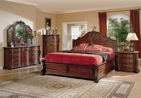 conventional king size bedroom sets  natural color