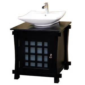 shop bellaterra home black single vessel sink bathroom vanity with marble top common