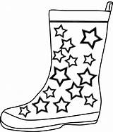 Boots Coloring Rain Pages Winter Cowboy Boot Printable Template Cartoon Cliparts Drawing Templates Clipart Shoes Crafts Shoe Azcoloring Az Clip sketch template
