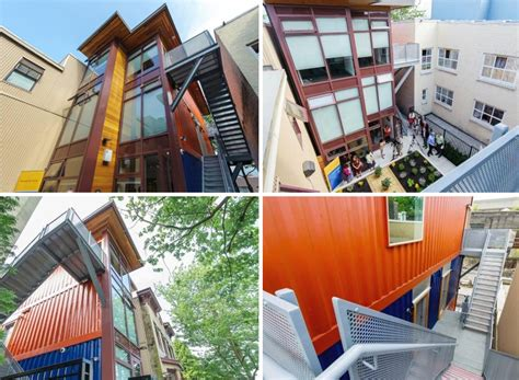 vancouvers lowincome housing made of recycled shipping
