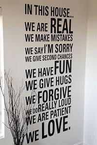 In this House We are real we make mistakes we say im sorry ...