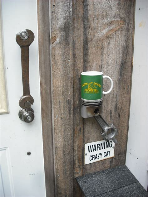 piston coffee cup holder wrench door pull fabrication