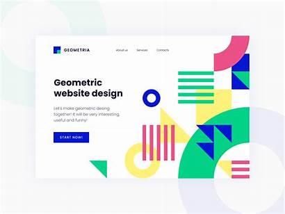 Geometric Dribbble Website Typography