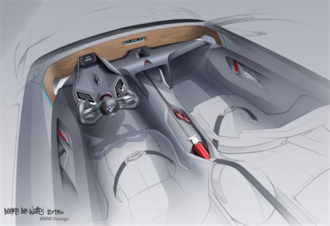 Bmw 3.0 Csl Hommage Concept Interior Design Sketch