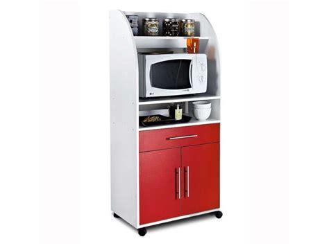 meuble de cuisine pour four et micro onde desserte à micro ondes 2 portes 1 tiroir conforama