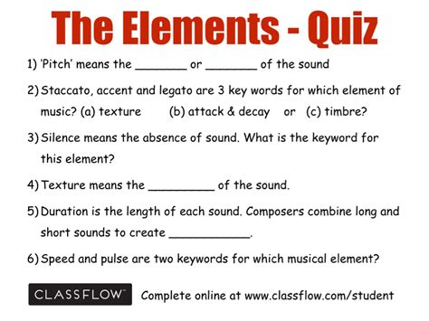 The music we love listening to has special pack of ingredient which is referred to as musical elements. The Elements of Music - Screen 12 on FlowVella ...
