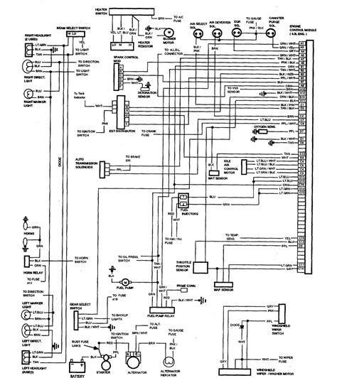 1965 Chevy El Camino Wiring Diagram by 1987 Chevrolet El Camino Wiring Diagram Part 2 61825