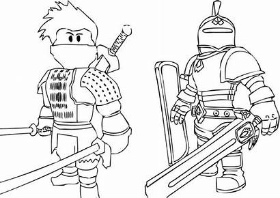 Roblox Coloring Pages Ninja Printable Noob Knight