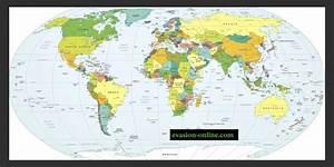 Carte Du Monde Noir : carte mondiale avec pays du monde vacances arts ~ Teatrodelosmanantiales.com Idées de Décoration