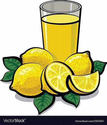 Juice Lemon Clipart Fresh Clip Vectorstock Drink