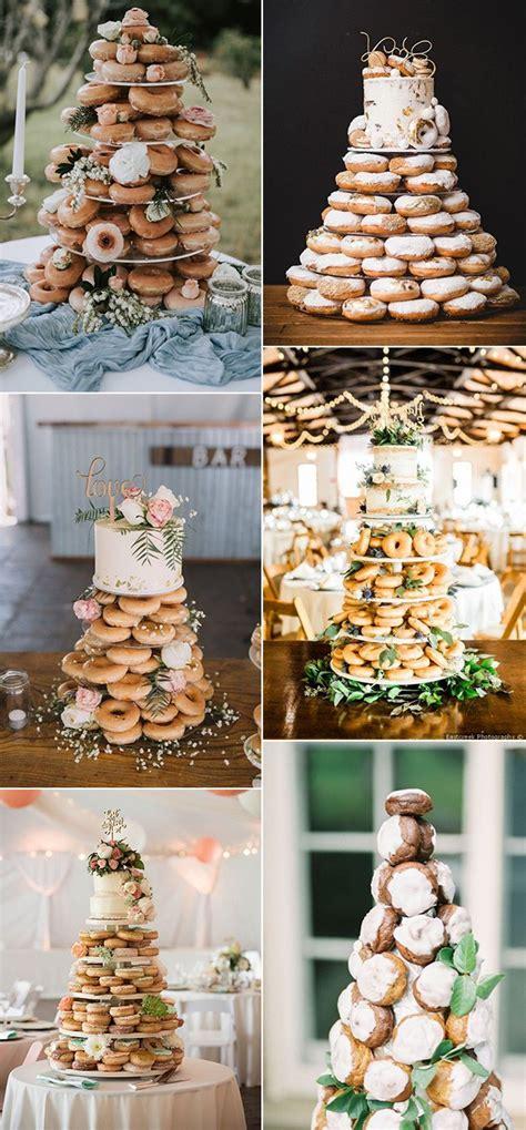 trending  delicious wedding cake ideas  doughnuts