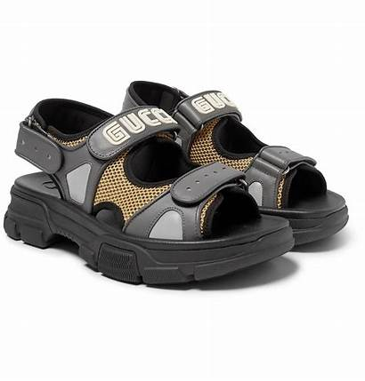Gucci Sandals Leather Mesh Shoes Mrporter