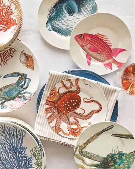 beach plates party martha stewart dinnerware themed theme entertaining essentials sea pottery inspired barn under coastal plate table marthastewart glass