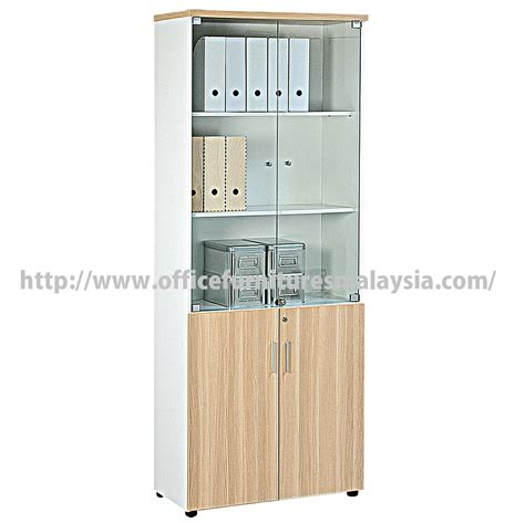 office full height filling cabinet  glass doors price