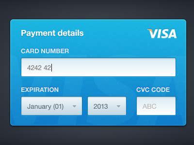 credit card form  haziq mir  dribbble
