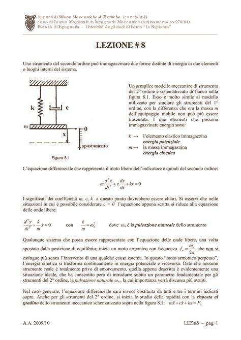Vibrazioni Meccaniche Dispense by Misure Della Portata Dispense