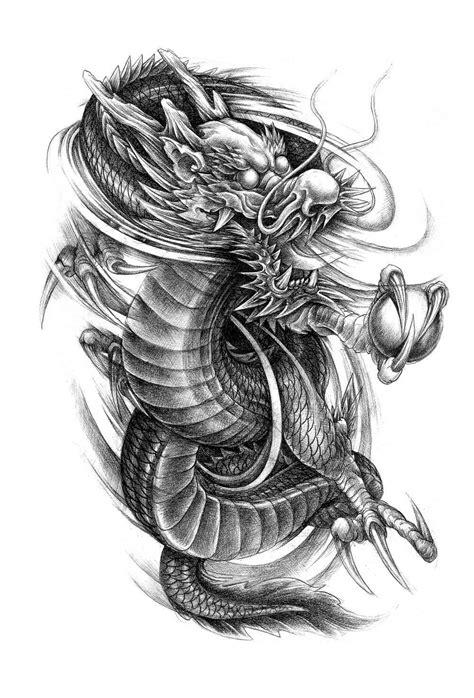 Dragon Phoenix Tattoo Flash Magazine Chinese Style Sketch Art Book | dragon tatto | Japanische