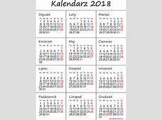 Kalendarz 2018 3 2019 2018 Calendar Printable with