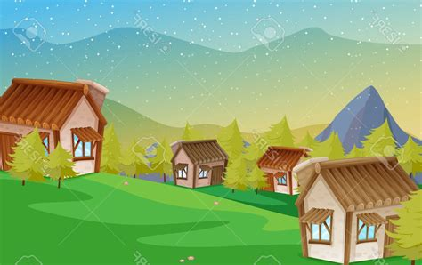 Wallpaper keren yang bisa dipakai buat hp dan pc mu. Gambar Pemandangan Gunung dan Rumah | Kumpulan Gambar