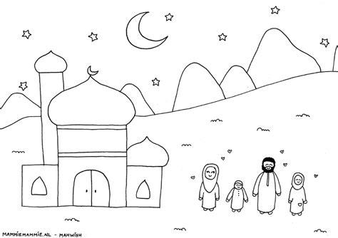 Kleurplaat Eid by Islamitische Kleurplaten Voor Kinderen Ramadan En Islam